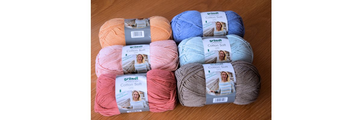 Stricken mit Cotton Soft uni -