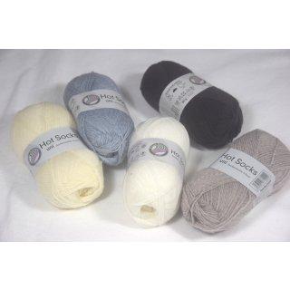 Sockenwolle Hot Socks uni 50