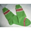 grüne Socken mit Bordüre Gr. 37/38