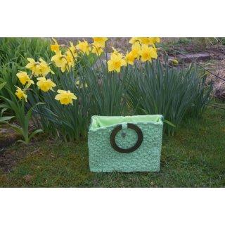 grüne Häkeltasche mit Futter