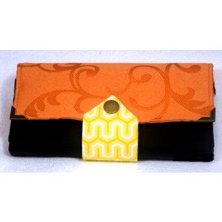 Geldbörse orange/schwarz