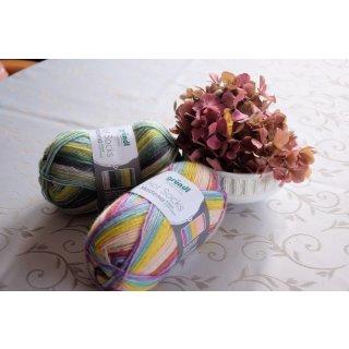 Mehrfarbige Sockenwolle Hot Socks Madena